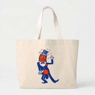 Perrito caliente bebido vintage del kitsch bolsas de mano