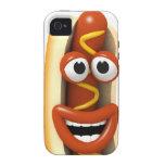 perrito caliente de risa 3d iPhone 4 carcasa