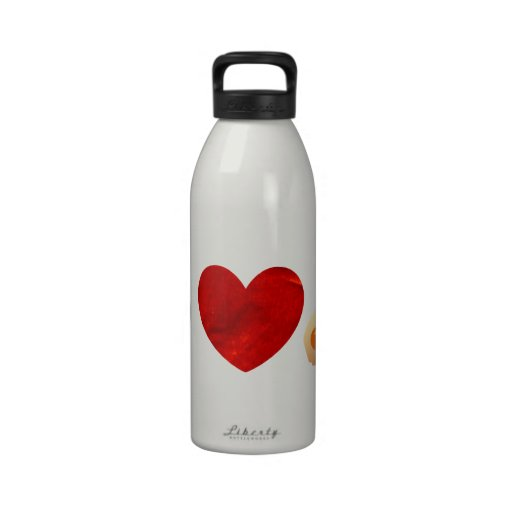 Perrito caliente del amor de la paz botellas de agua reutilizables