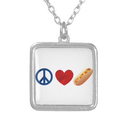 Perrito caliente del amor de la paz joyerias personalizadas
