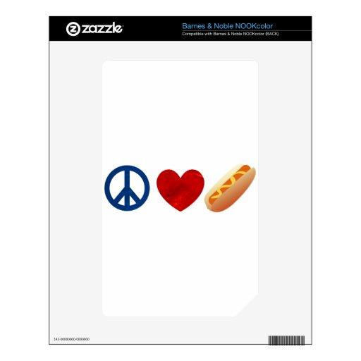 Perrito caliente del amor de la paz NOOK color skin