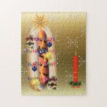 Perrito caliente del navidad puzzles con fotos
