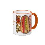 Perrito caliente del perro superior personalizado taza de café