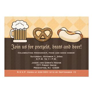 Perrito caliente del pretzel de la taza de cerveza comunicados