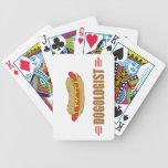 Perrito caliente divertido barajas de cartas