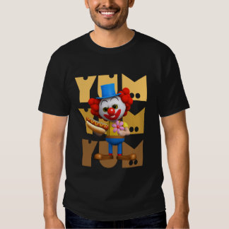 Perrito caliente divertido del payaso 3d Yum Yum Camisas