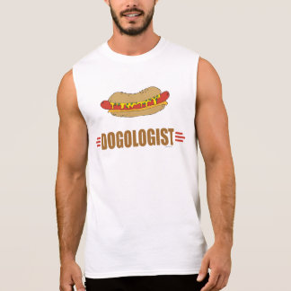 Perrito caliente divertido camiseta sin mangas