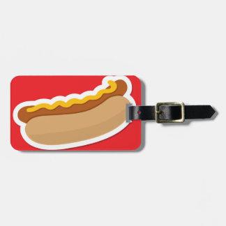 Perrito caliente etiqueta para maleta