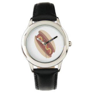 Perrito caliente lindo de Kawaii Reloj De Mano