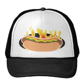 Perrito caliente llameante gorra