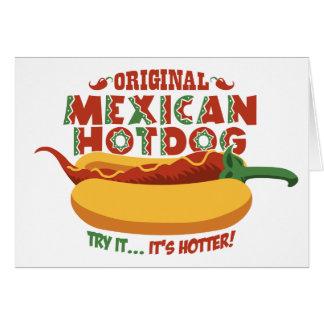 Perrito caliente mexicano tarjetas