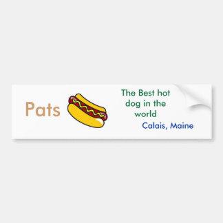 perrito caliente palmaditas el mejor perrito cal etiqueta de parachoque