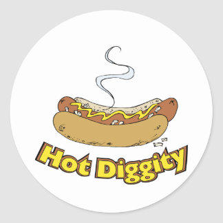 Perrito caliente perritos calientes calientes del pegatina