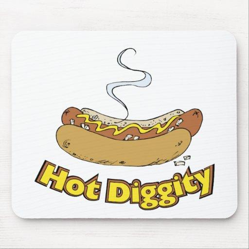 Perrito caliente/perritos calientes calientes del  tapetes de ratón