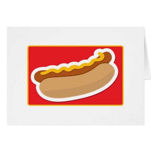 Perrito caliente tarjeta de felicitación