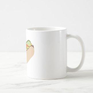 Perrito caliente taza básica blanca