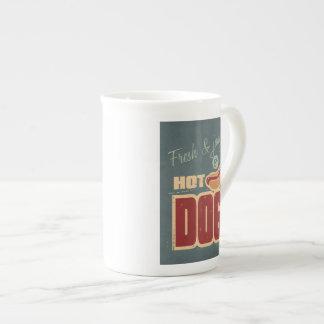 Perrito caliente taza de porcelana