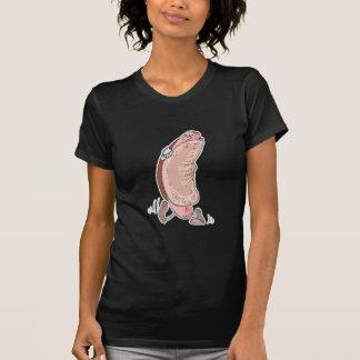 perrito caliente tonto en personaje de dibujos ani camisetas