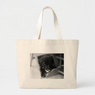 perrito con el bolso del pacificador bolsa de mano