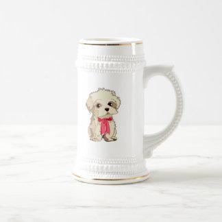 Perrito conmovedor taza de café