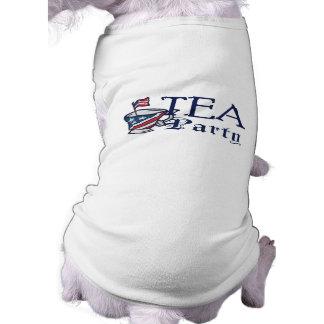 Perrito conservador patriótico de la bandera de la playera sin mangas para perro