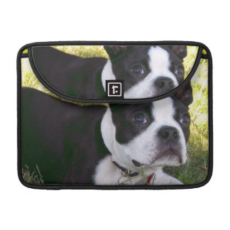 "Perrito de Boston Terrier 13"" manga de MacBook Funda Para Macbook Pro"