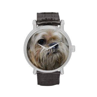 Perrito de Bruselas Griffon Relojes
