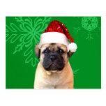 Perrito de Bullmastiff del navidad Postal