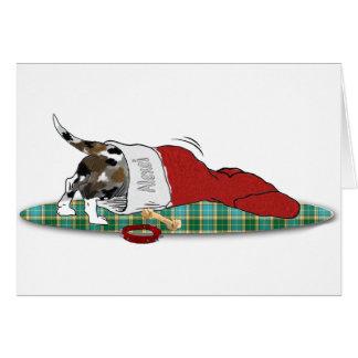 Perrito de Catahoula en tarjeta de Navidad de la m