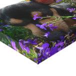Perrito de Chuihuahua en flores del verano Impresiones En Lienzo Estiradas