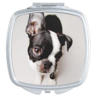 Perrito de Edison Boston Terrier Espejo Compacto