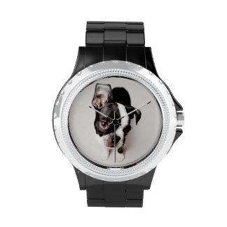 Perrito de Edison Boston Terrier Reloj De Mano