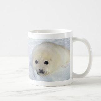 Perrito de foca de Groenlandia mullido Taza De Café