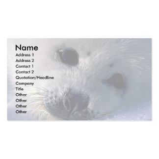 Perrito de foca de Groenlandia Tarjetas De Visita