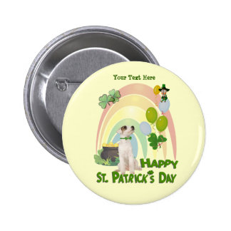 Perrito de Jack Russell - partidos irlandeses o no Pin Redondo De 2 Pulgadas