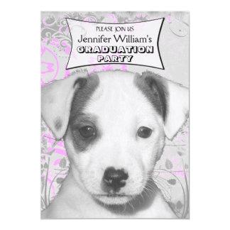 """Perrito de Jack Russell Terrier Invitación 5"""" X 7"""""""