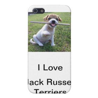 Perrito de Jack Russell Terrier iPhone 5 Fundas