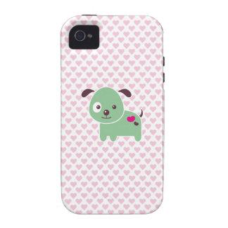 Perrito de Kawaii Case-Mate iPhone 4 Fundas