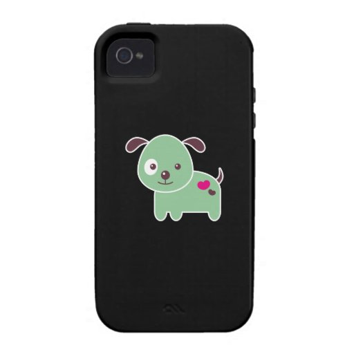 Perrito de Kawaii Vibe iPhone 4 Carcasas