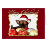 Perrito de la chihuahua de las Felices Navidad Felicitación