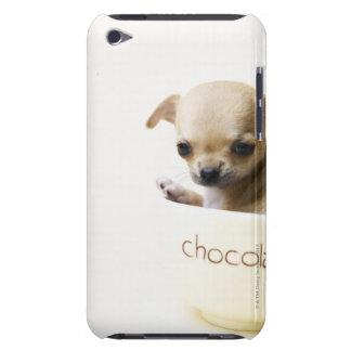 Perrito de la chihuahua en el cuenco (cosechado) iPod Case-Mate protector