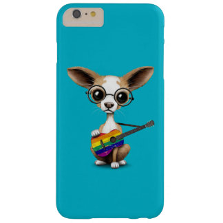 Perrito de la chihuahua que toca la guitarra del funda de iPhone 6 plus barely there