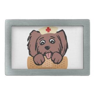 Perrito de la enfermera hebilla cinturon rectangular