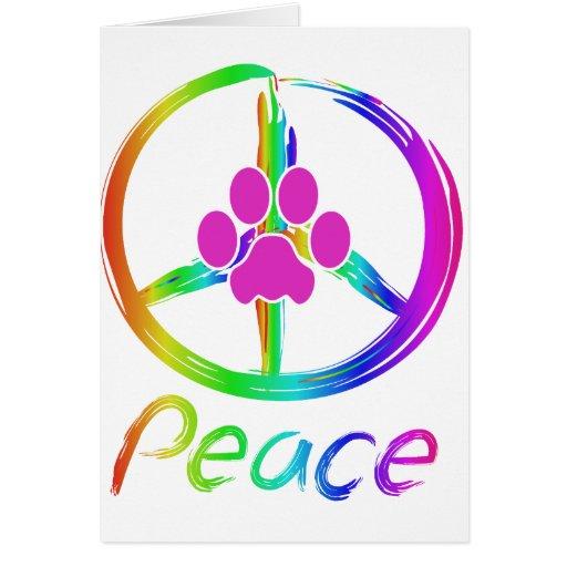 Perrito de la paz felicitaciones
