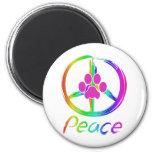 Perrito de la paz iman de nevera