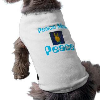 Perrito de la paz playera sin mangas para perro