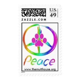 Perrito de la paz franqueo