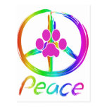 Perrito de la paz tarjetas postales