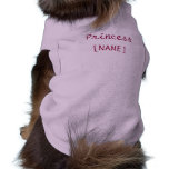Perrito de la princesa camiseta de mascota