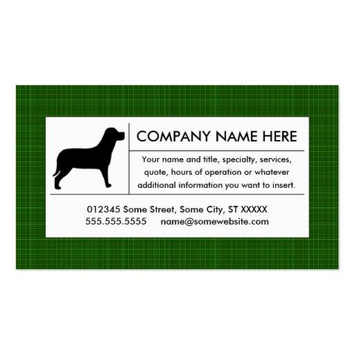 perrito de la tela escocesa plantilla de tarjeta de visita